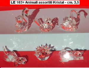V 008 - ANIMALI PICCOLI KRISTAL ASSORTITI - CM, 3,5