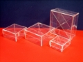A 83 Set 4 Scatoline Plexiglass Quadrate